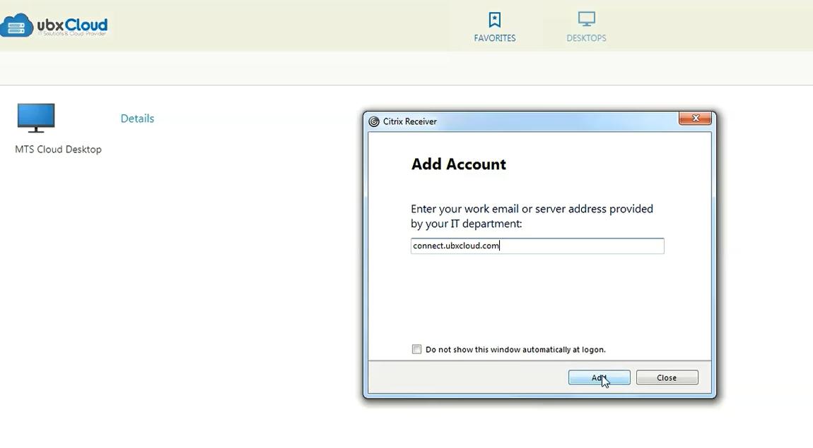 Setting up Citrix Reciever and Configuring Cloud Desktop